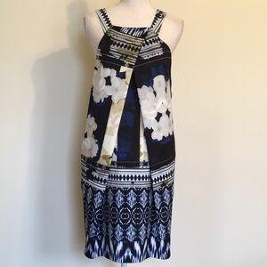 Antonio Melani Floral & Tribal Print Halter Dress